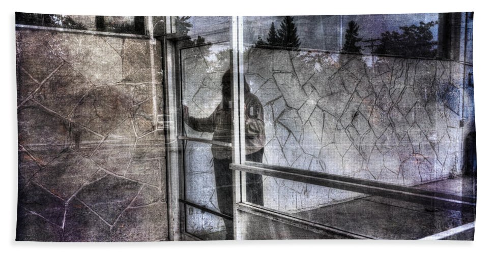 Acrylic Prints Hand Towel featuring the photograph Presant And Future Not Much To Choose Between by John Herzog