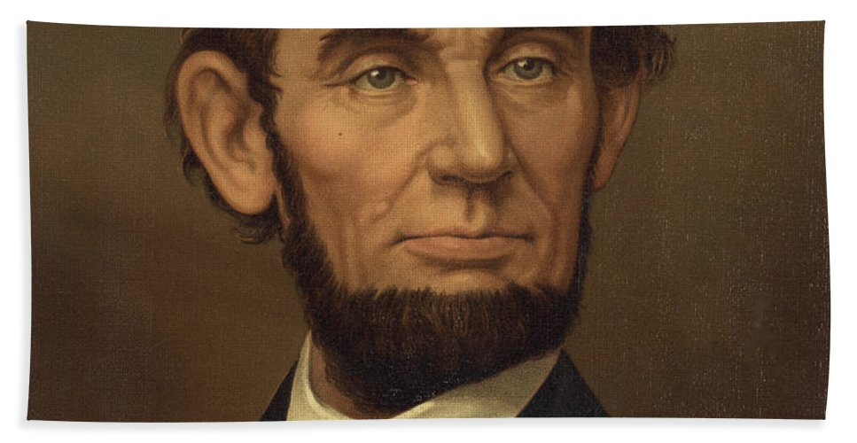 abraham Lincoln Hand Towel featuring the photograph President Of The United States Of America - Abraham Lincoln by International Images