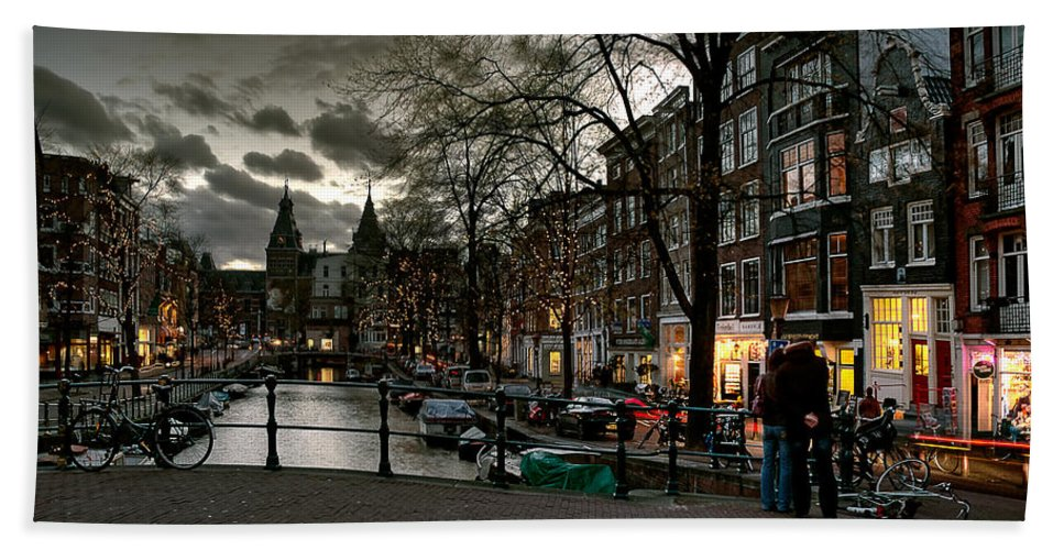 Holland Amsterdam Hand Towel featuring the photograph Prinsengracht And Spiegelgracht. Amsterdam by Juan Carlos Ferro Duque