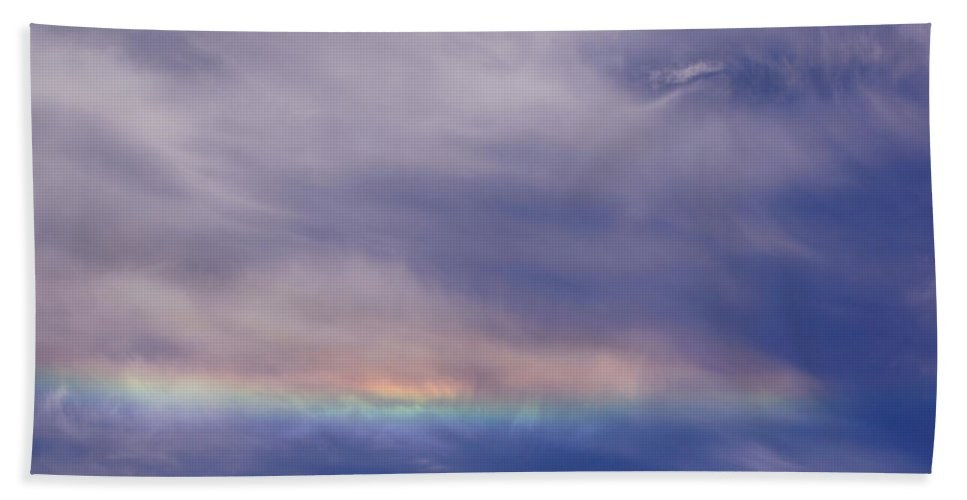 Prismatic Hand Towel featuring the photograph Prismatic Color In The Sky by Mick Anderson