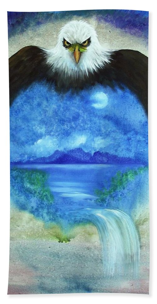 Mother Bath Sheet featuring the painting Protect Our Mother by Rain Crow
