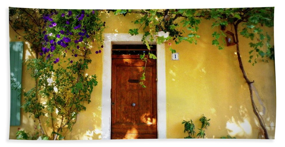Door Hand Towel featuring the photograph Provence Door Number 1 by Lainie Wrightson
