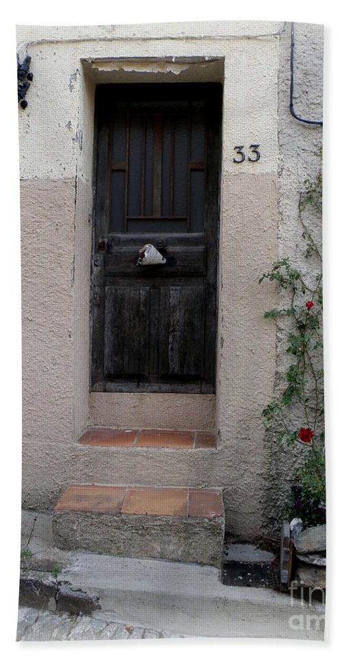 Door Bath Sheet featuring the photograph Provence Door Number 33 by Lainie Wrightson