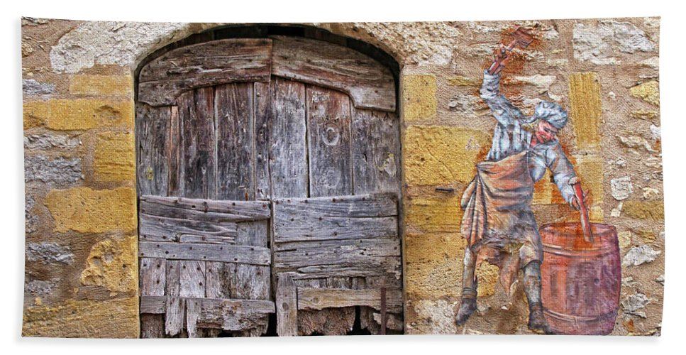 Provence Bath Sheet featuring the photograph Provence Window And Wall Painting by Dave Mills