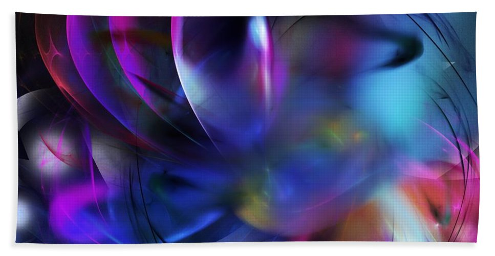 Fine Art Bath Sheet featuring the digital art Psycho Nightmare by David Lane