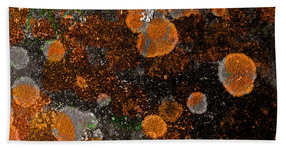 Pumpkin Hand Towel featuring the photograph Pumpkin Abstract Square by John Stephens