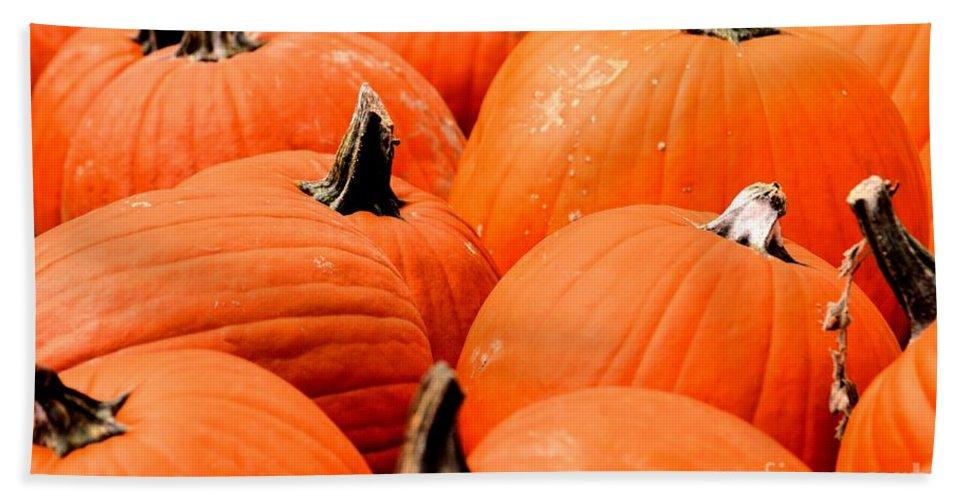 Pumpkin Hand Towel featuring the photograph Pumpkin Harvest by Maria Urso