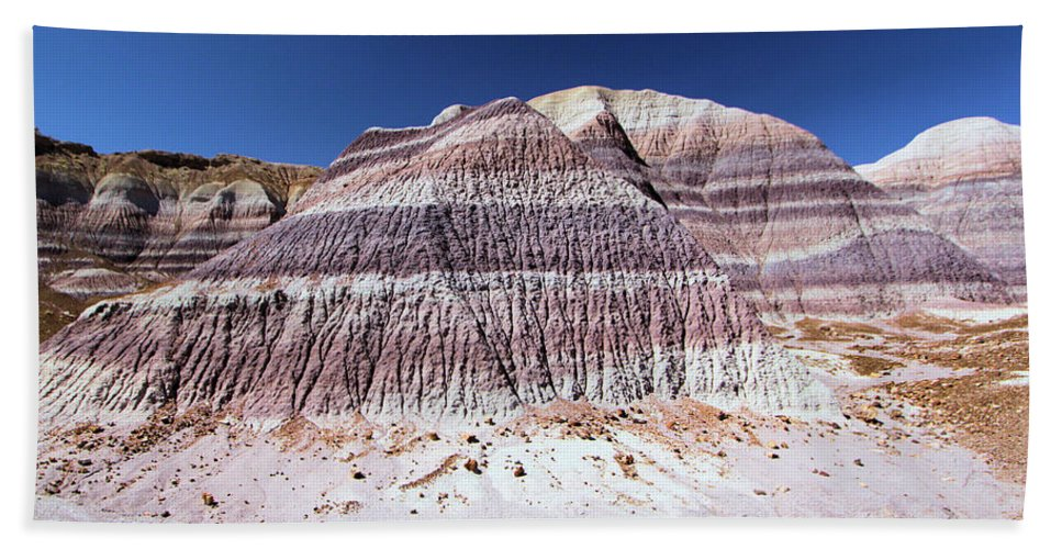 Petrified Forest National Park Bath Sheet featuring the photograph Purple Mountain Majesty by Adam Jewell