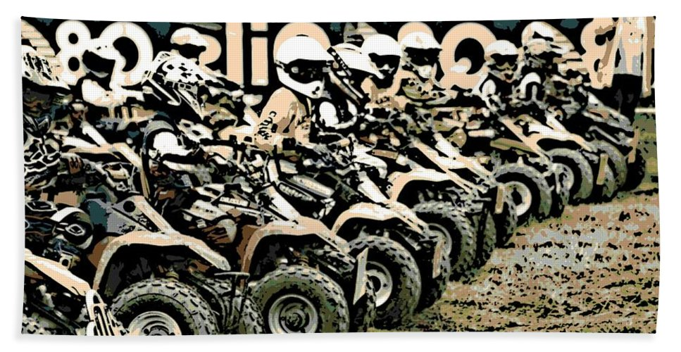 4 Wheeler Bath Sheet featuring the photograph Quad Racers by George Pedro