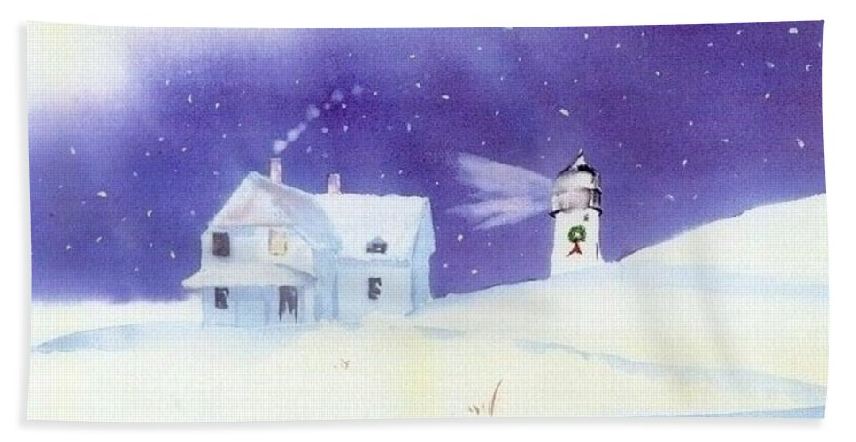 Race Point Hand Towel featuring the painting Race Point Flurry by Joseph Gallant