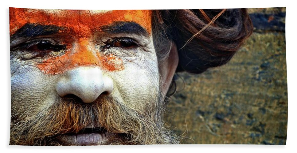 Portraits Bath Sheet featuring the photograph Rade Baba by Valerie Rosen