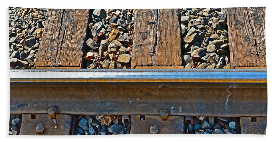 Rail Hand Towel featuring the photograph Rail by Bill Owen