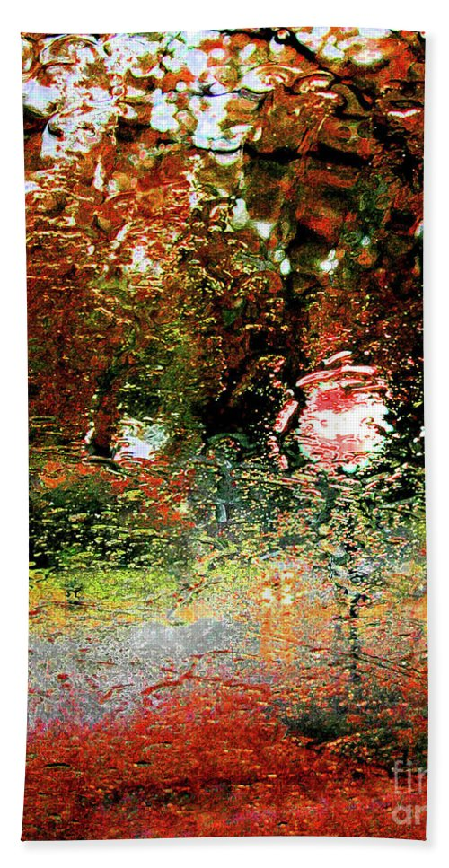 Water Hand Towel featuring the digital art Rain by Lizi Beard-Ward