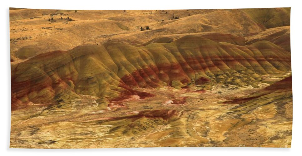 John Day Fossil Beds Hand Towel featuring the photograph Rainbow Hills by Adam Jewell