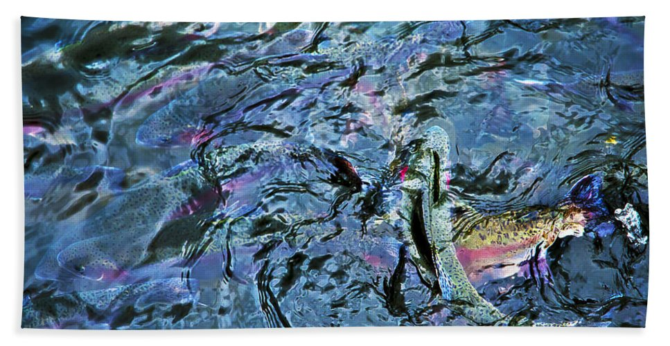 Rainbow Trout Bath Sheet featuring the photograph Rainbow Trout by Beth Riser