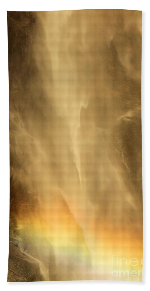 Yosemite National Park Hand Towel featuring the photograph Rainbows In The Mist by Adam Jewell