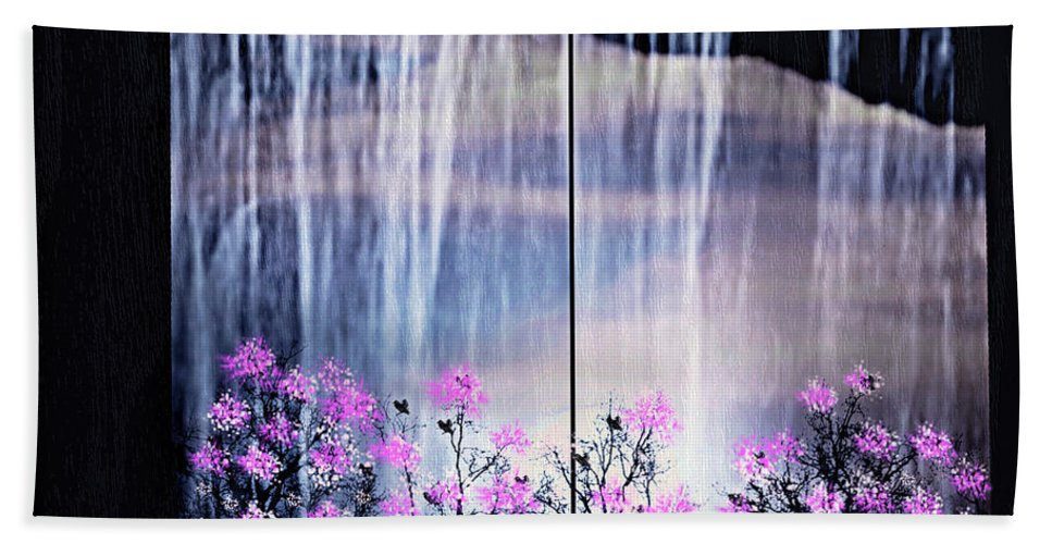 Flowers Bath Sheet featuring the digital art Rainy Nights In Georgia by Sherri's - Of Palm Springs