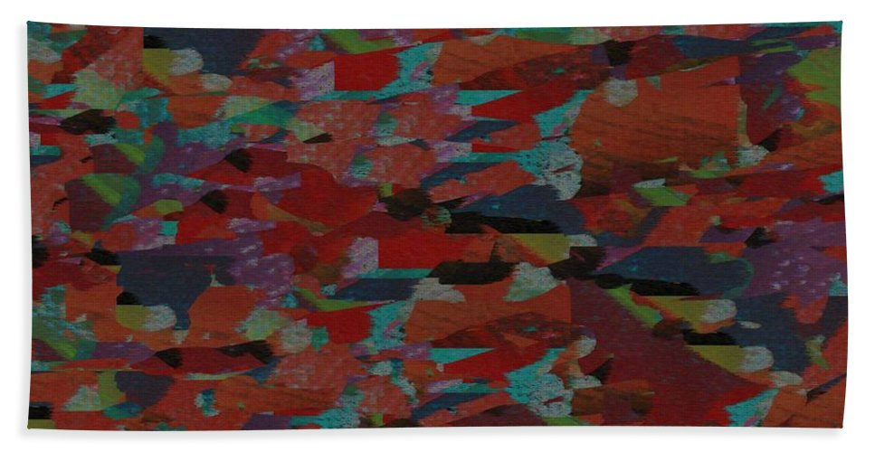 Non Duality Bath Sheet featuring the digital art Rambling Paranoia by Paula Andrea Pyle