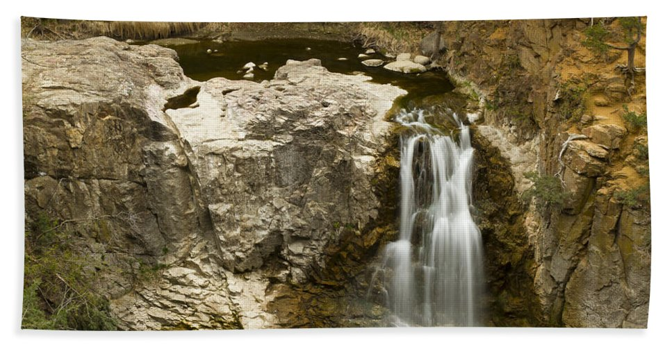 Waterfall Hand Towel featuring the photograph Ramsey Falls Mn 16 by John Brueske