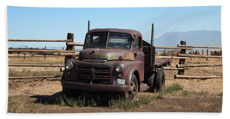 Dodge Truck Bath Sheet featuring the photograph Ranch Truck by Joshua House