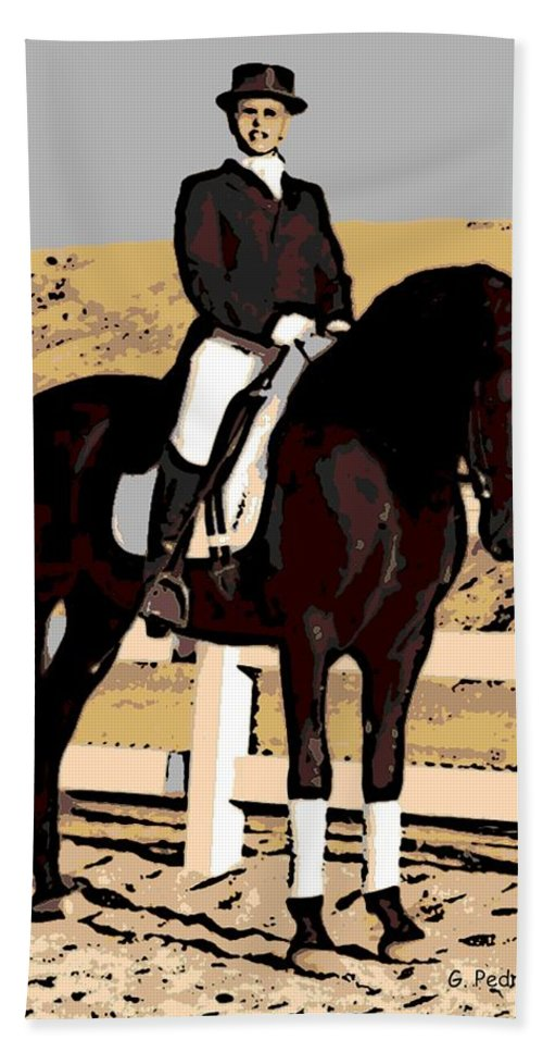 Rider Bath Sheet featuring the photograph Ready To Compete by George Pedro