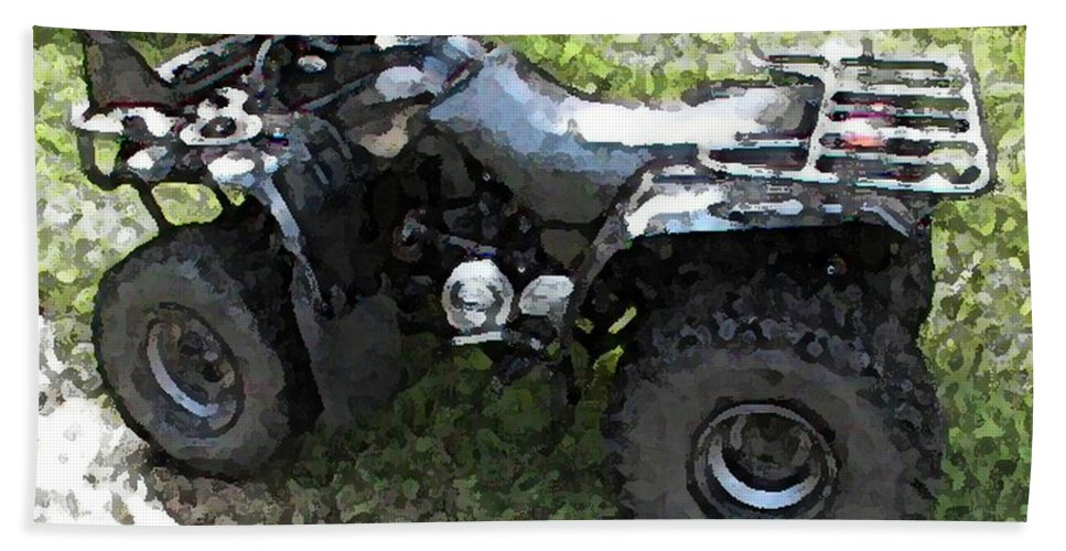 4 Wheeler Hand Towel featuring the photograph Ready To Ride by George Pedro