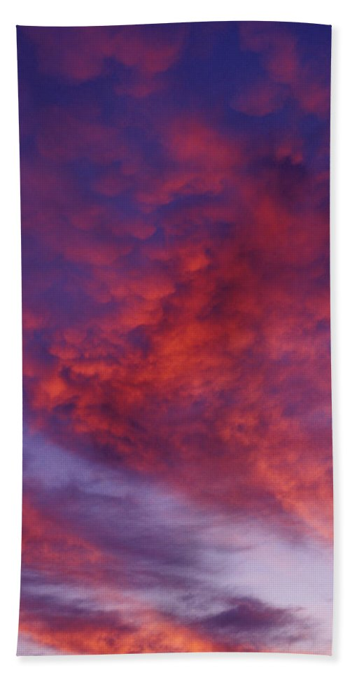 Red Clouds Bath Sheet featuring the photograph Red Clouds by Garry Gay
