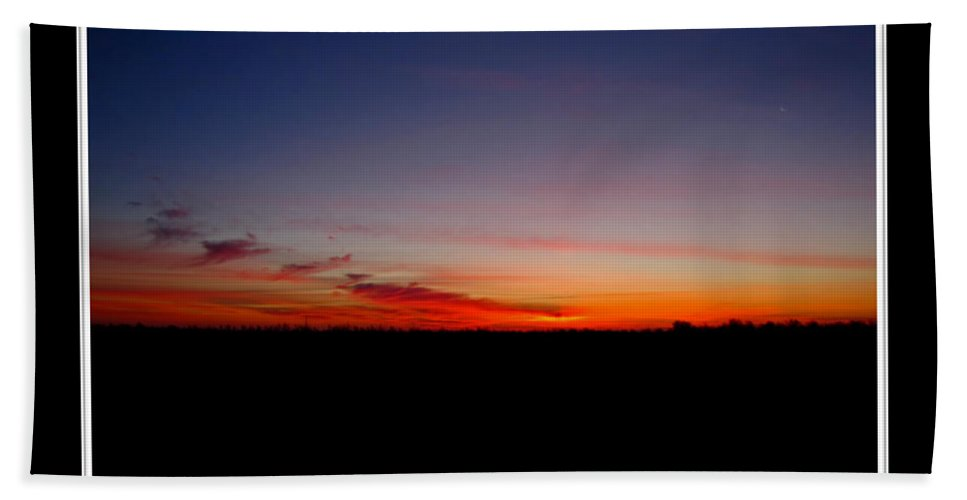 Landscape Bath Sheet featuring the photograph Red Dawn by Debbie Portwood