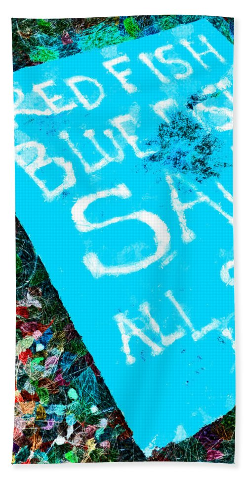 Red Fish Hand Towel featuring the photograph Red Fish Blue Fish Sale by Steve Taylor