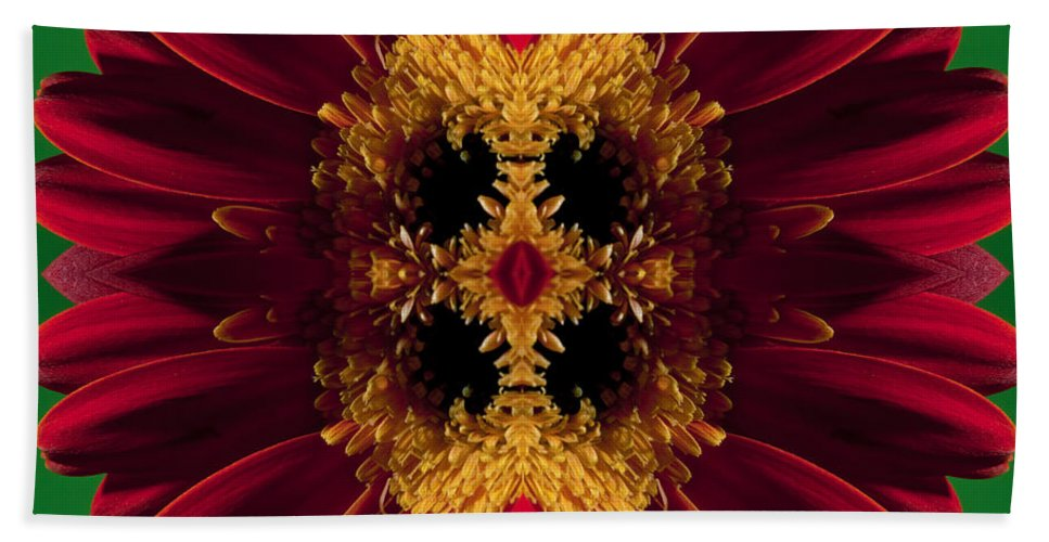 Abstract Bath Sheet featuring the photograph Red Flower Art by Nathan Wright