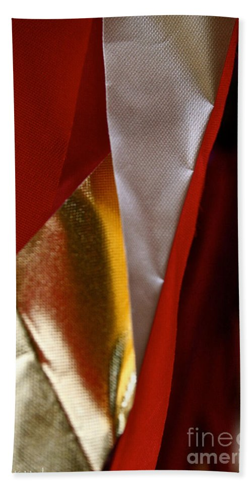 Outdoors Hand Towel featuring the photograph Red Gold And White by Susan Herber