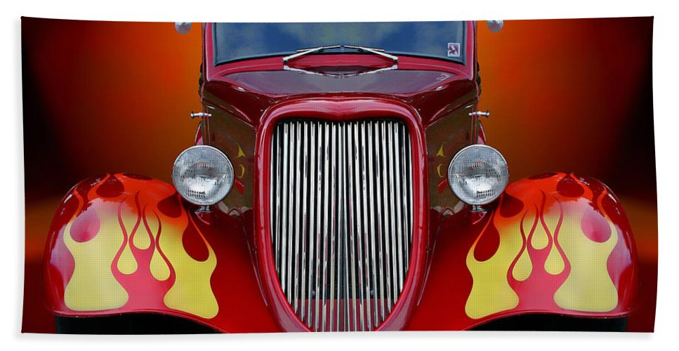 Hot Rod Bath Sheet featuring the photograph Red Hot by David Sanchez