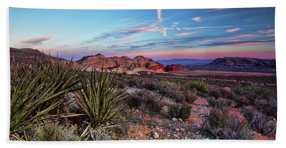 Nevada Hand Towel featuring the photograph Red Rock Sunset by Rick Berk