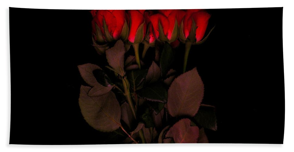 Red Roses Bath Sheet featuring the photograph Red Roses 3 by Jessica Velasco
