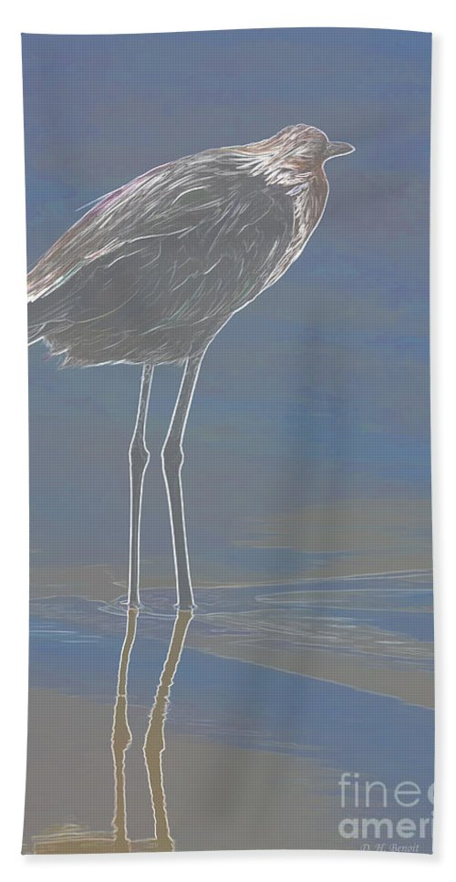 Wildlife Art Bath Sheet featuring the photograph Reddish Egret by Deborah Benoit