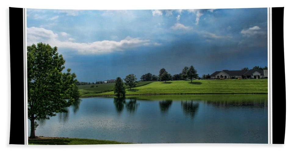 Bath Sheet featuring the photograph Reflections Of Home by Debbie Portwood