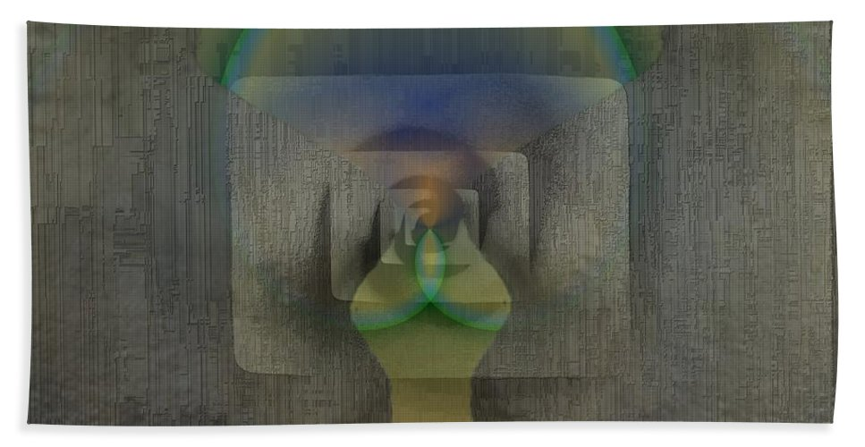 Reflection Bath Towel featuring the digital art Reflections Of The Soul by Tim Allen