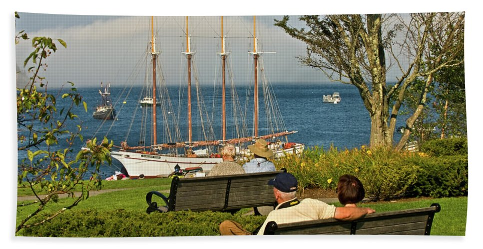 bar Harbor Hand Towel featuring the photograph Relax by Paul Mangold