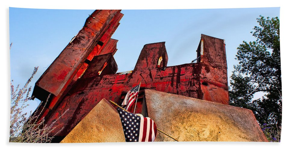 11 Hand Towel featuring the photograph Remember September 11th by Nick Zelinsky