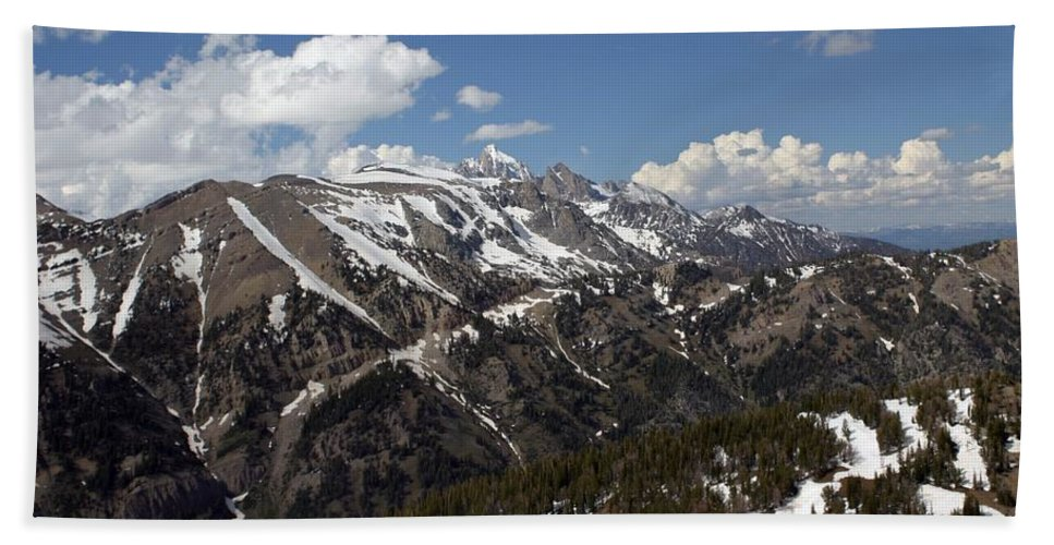 Rendezvous Mountain Bath Sheet featuring the photograph Rendezvous Mountain by Living Color Photography Lorraine Lynch