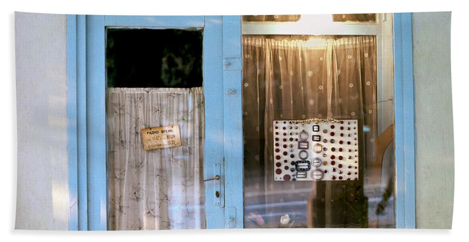 Serbia Belgrade Bath Sheet featuring the photograph Repair Of Nylons. Belgrade. Serbia by Juan Carlos Ferro Duque