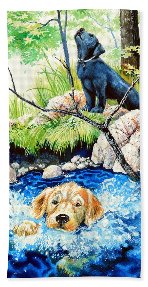 Children Book Illustrator Hand Towel featuring the painting Rescue Me by Hanne Lore Koehler