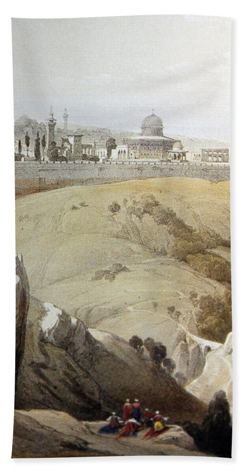 Jerusalem Hand Towel featuring the photograph Resting Near Jerusalem by Munir Alawi