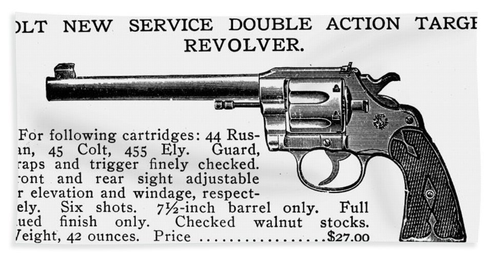 19th Century Bath Sheet featuring the photograph Revolver, 19th Century by Granger