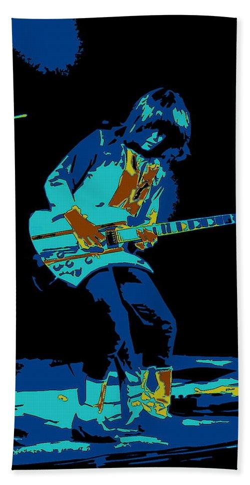 Rick Derringer Bath Sheet featuring the photograph Cosmic Derringer In Spokane 1977 by Ben Upham