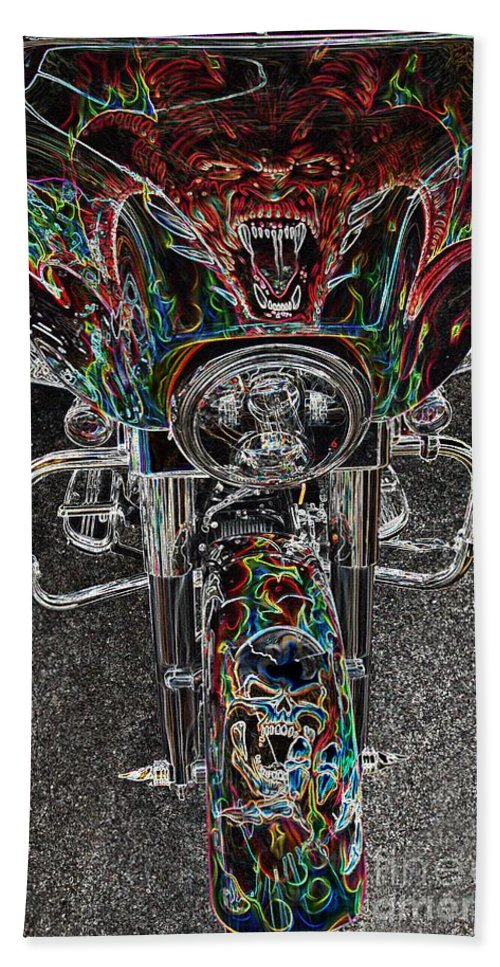 Motorcycle Bath Sheet featuring the photograph Ride Like The Devil by Anthony Wilkening