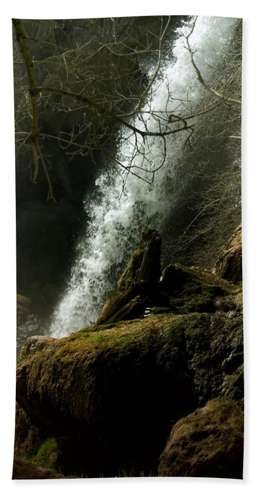 Rifle Falls Hand Towel featuring the photograph Rifle Falls IIi by Ellen Heaverlo