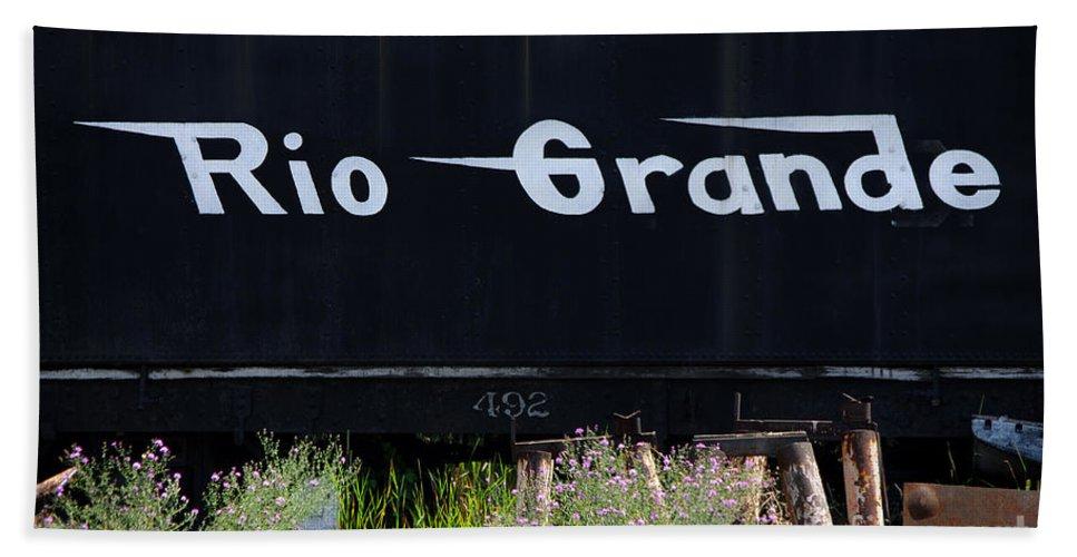 Photograph Bath Sheet featuring the photograph Rio Grande by Vicki Pelham