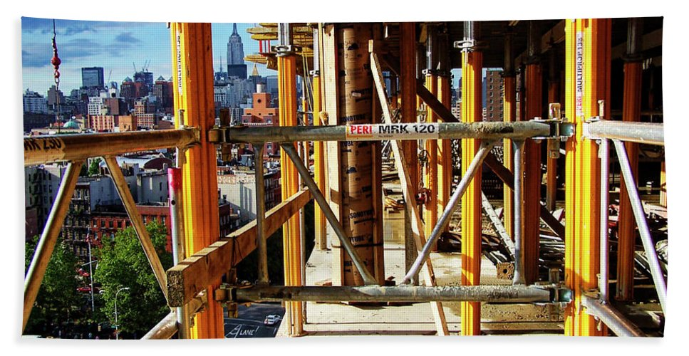 Loisaida Bath Sheet featuring the photograph Rising Loisaida by S Paul Sahm