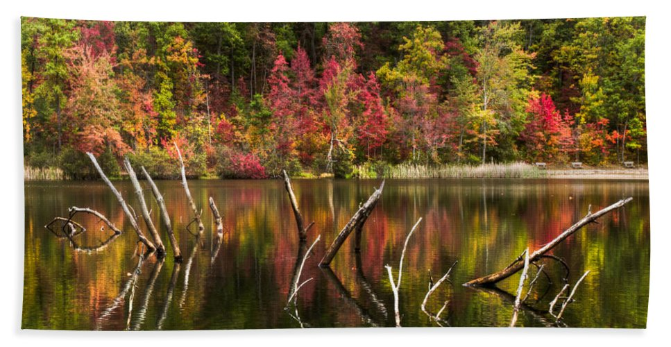 Appalachia Bath Sheet featuring the photograph River Ghosts by Debra and Dave Vanderlaan